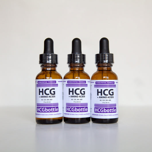 HCG+Amino Drops, 60 Day Program (3 bottles) – Contains added Amino Acids