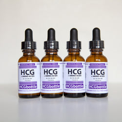 HCG+Amino Drops, 80 Day Program (4 bottles) – Contains added Amino Acids