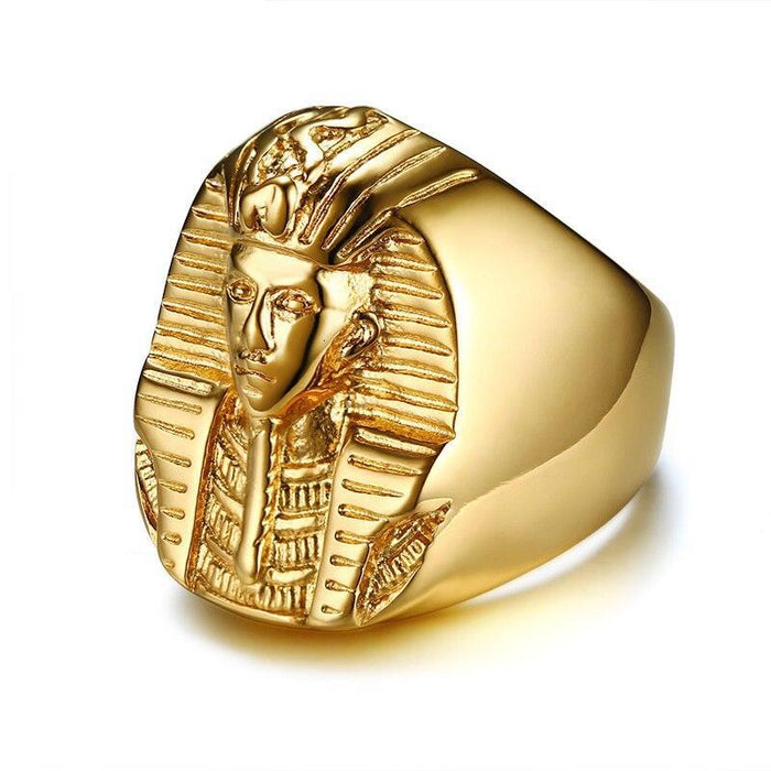 Pharaoh Gold Ring