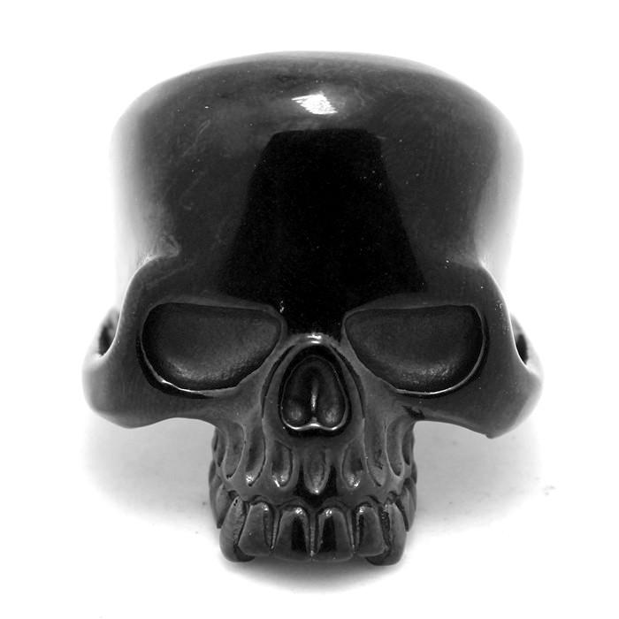 Jaw Skull Black Ring