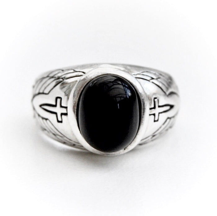925 Eternal Love Onyx Ring
