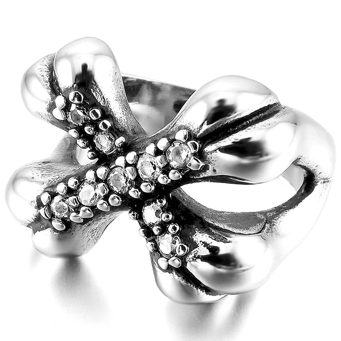 Cross Bones Gem Ring