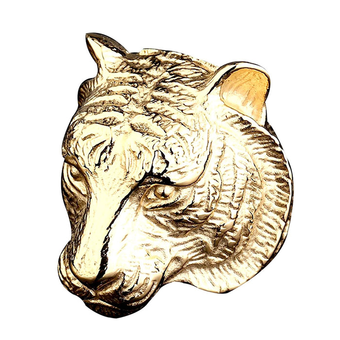 Tiger Head Gold Ring
