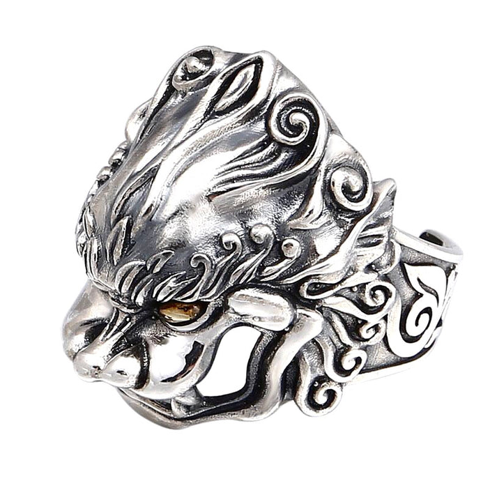 Gold Eye Protector Ring