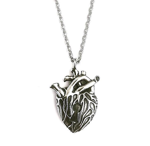 Anatomical Key Heart Necklace