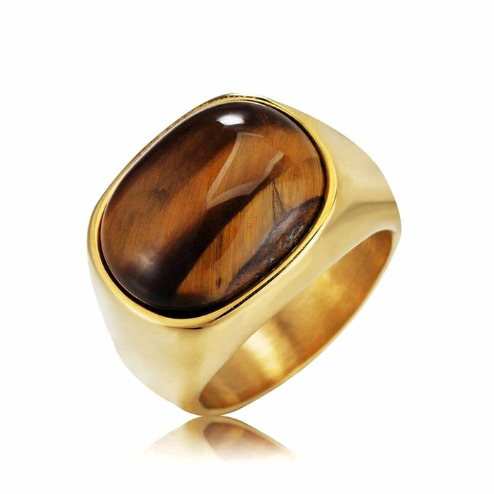 Tiger Eye Ring Men