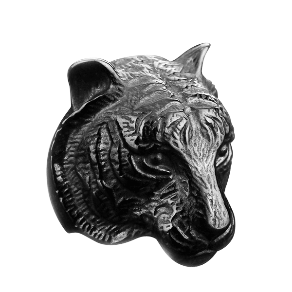 Tiger Head Black Ring