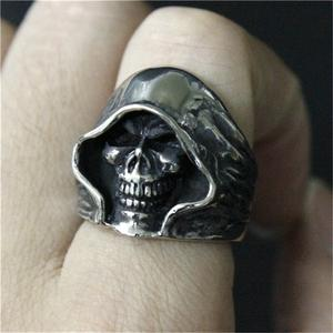 Grim Reaper Skull Head Ring