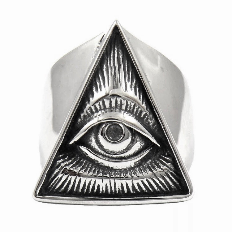 All Seeing Eye Thick Band Triangle