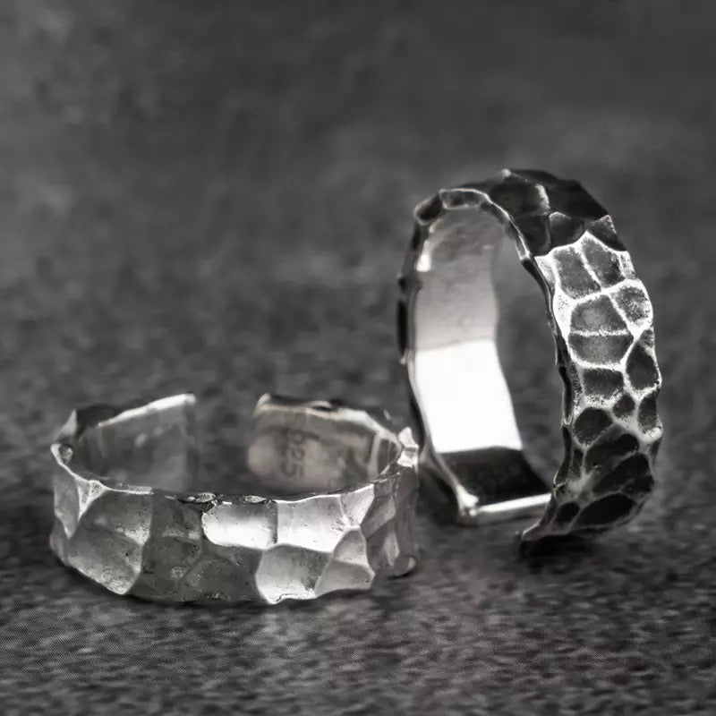 925 Hammered Ring