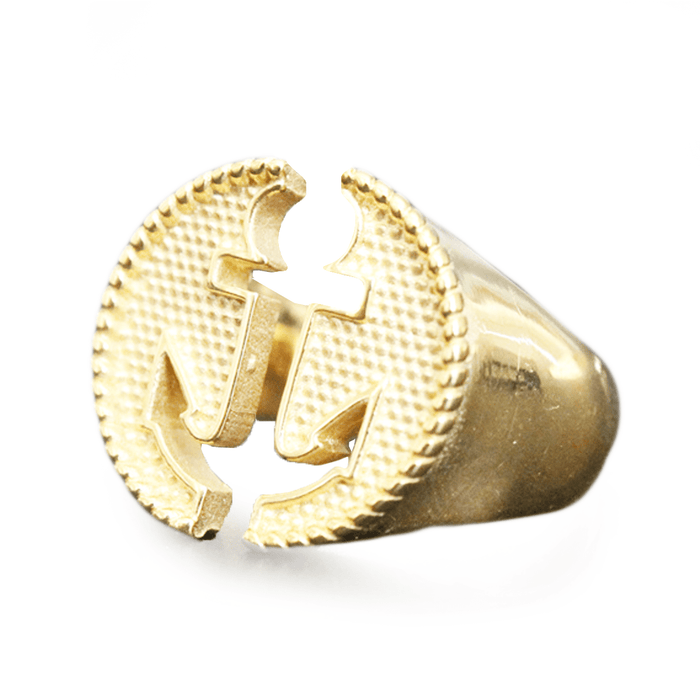 Anchor Cut-Out Gold Ring
