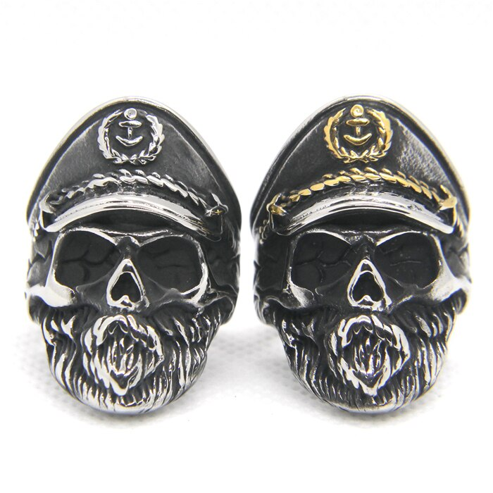 Captain Beard Skull Ring