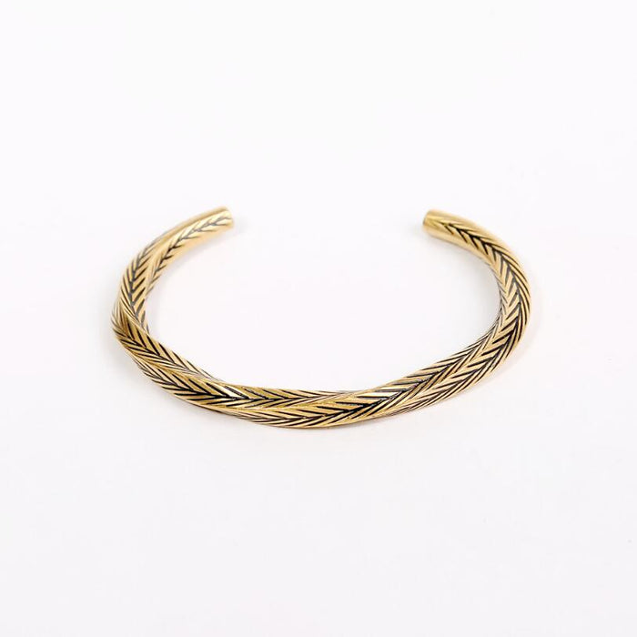 Twisted Braiding Cuff Bracelet