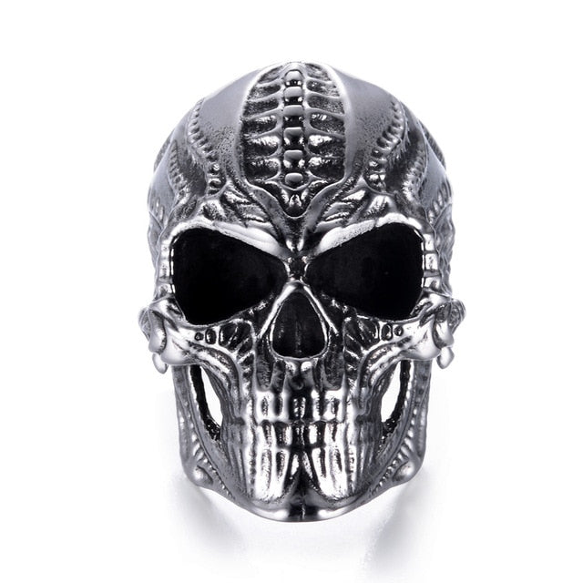 Alien Skeleton Skull Ring