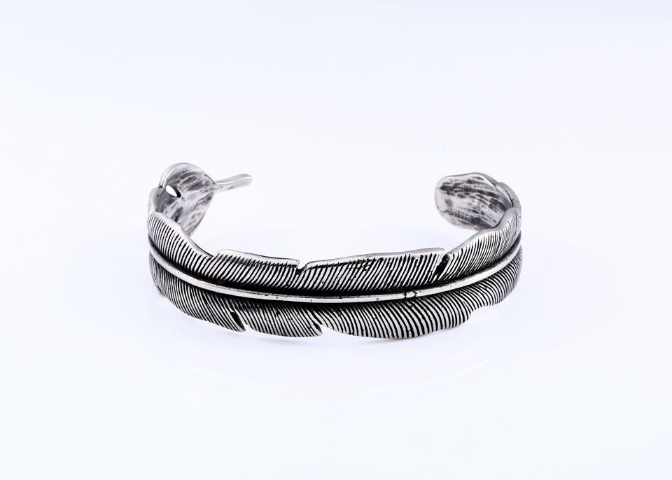 Feather Bangle Cuff