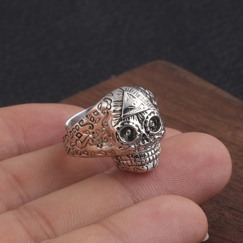 925 Muerto Eye Ring