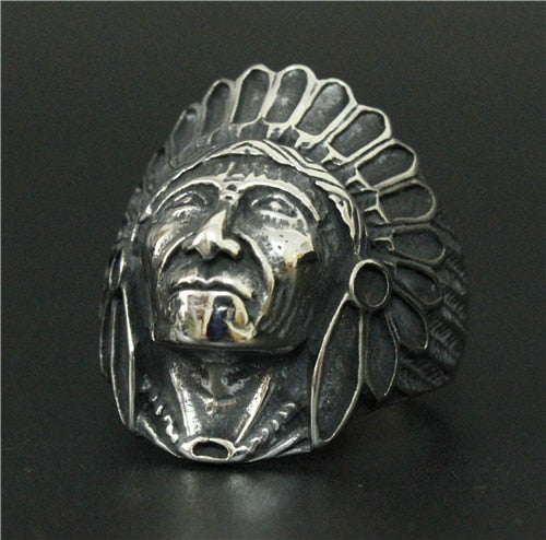 Apache Chief Head Ring