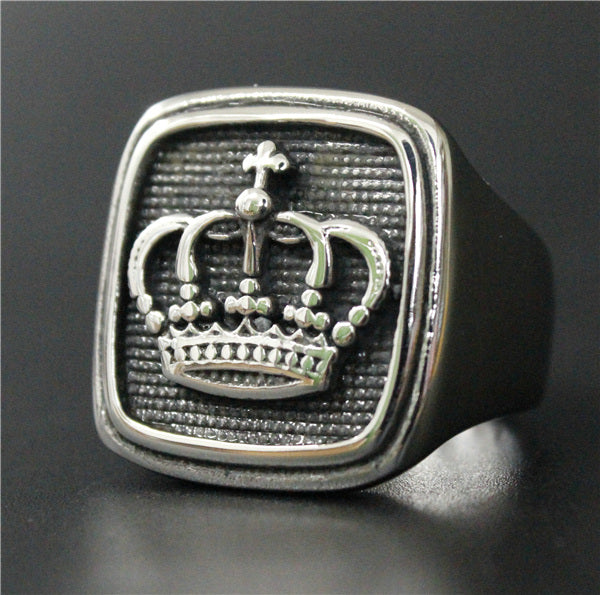 Royal Signet Crown Ring
