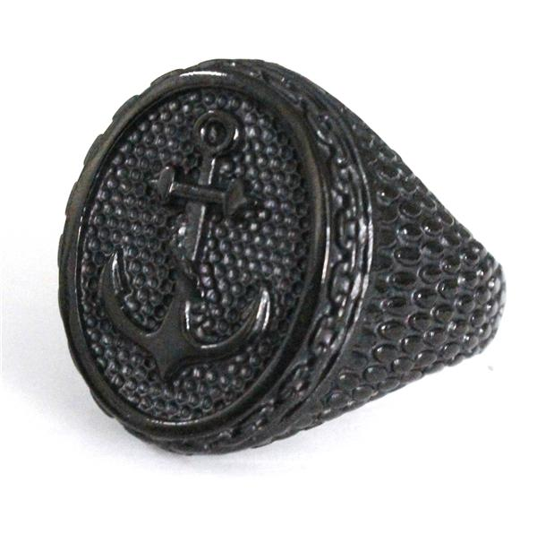 Black Antique Anchor Ring