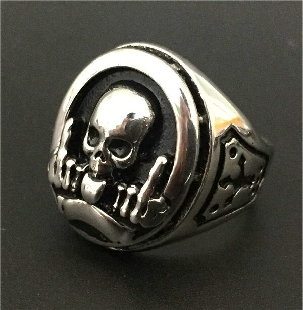 Rebel Skull Ring
