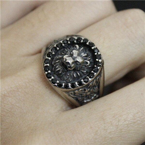 Blackstone Lion Ring