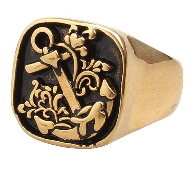 Tradition Anchor Gold Ring