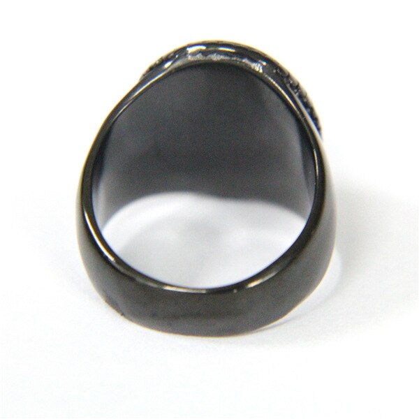 Black Sacred Heart Ring