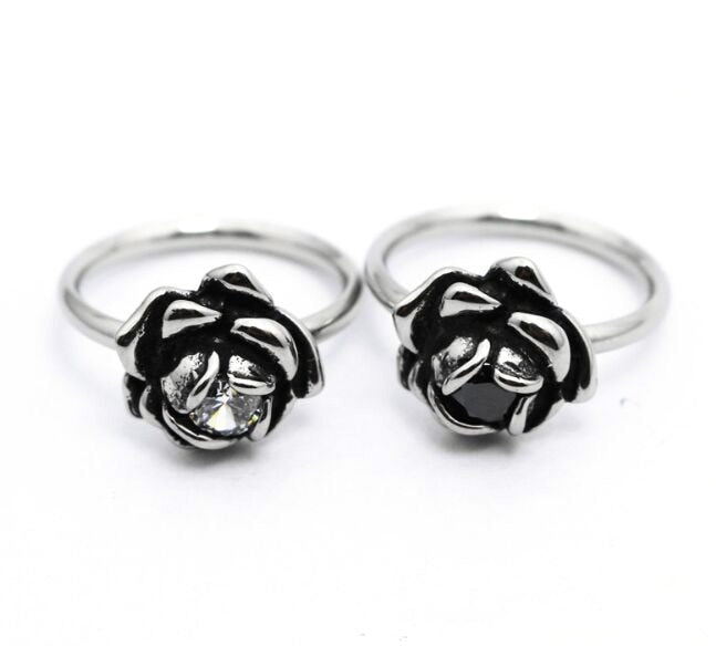 Rose Stone Knuckle Ring