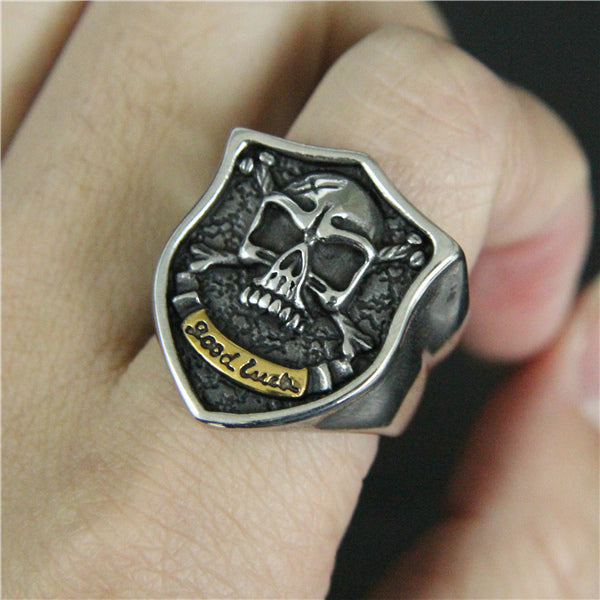 Good Luck Skull Ring