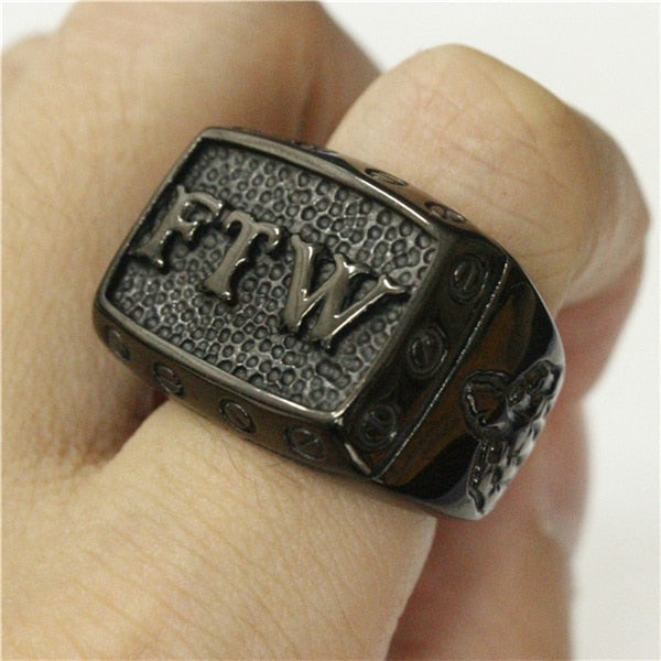 Black F The World Ring