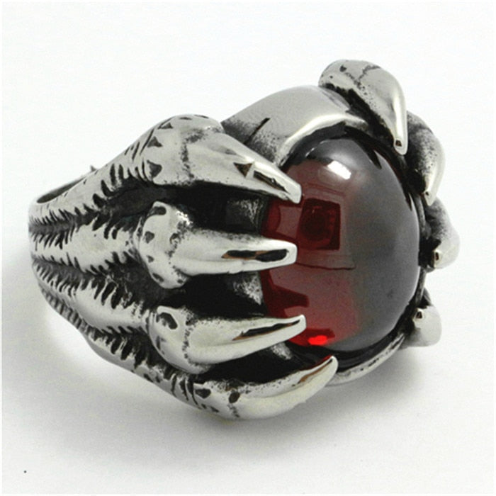 Dragon Eye Claw Gem Ring