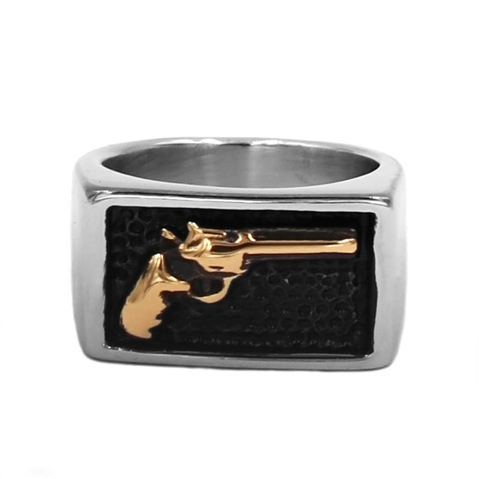 Gold Gun Ring