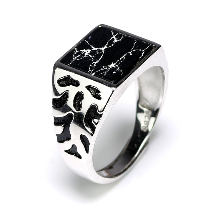 925 Marble Top Ring