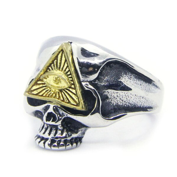 All Seeing Eye Skull Ring