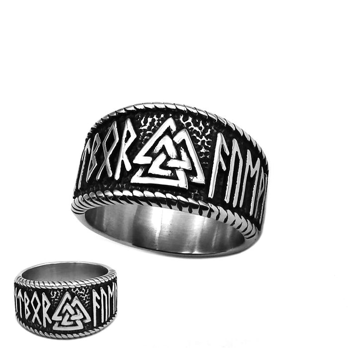 Rune Valknut Band Ring