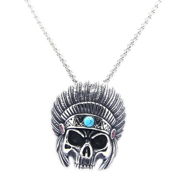 Native Indian Biker Necklace