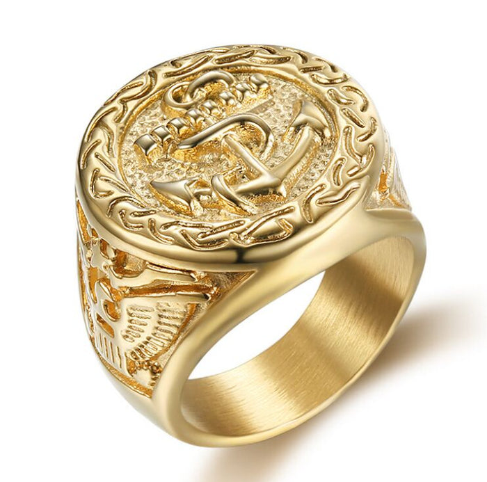 Golden Anchor Seal Ring