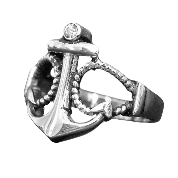 Rope Diamond Anchor Ring