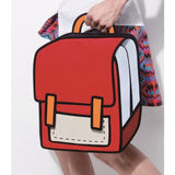 HelloDefiance, Red School Style - 2D Bag, best, HelloDefiancecheap