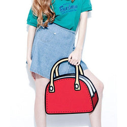 HelloDefiance, Red Lady's Handbag - 2D Bag, best, HelloDefiancecheap