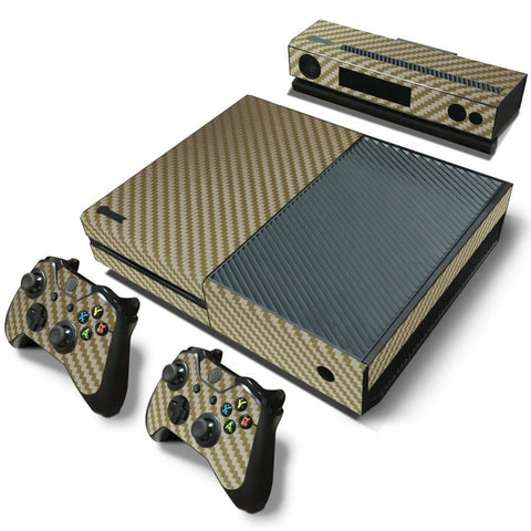 Gold Carbon Fiber Skin - Xbox One Protector