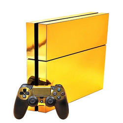 Gold Playstation 4 Skin custom vinyl wrap decal sticker
