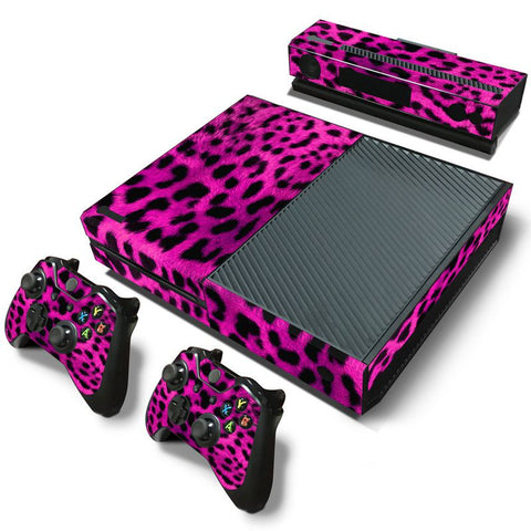 Hot Pink Cheetah Print Skin - Xbox One Protector