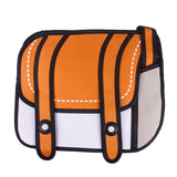 HelloDefiance, Orange Two-Strap Buttoned - 2D Bag, best, HelloDefiancecheap