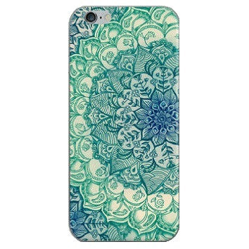 HelloDefiance, Mandala Green Floral for iPhone 5/6/7 Models, best, HelloDefiancecheap
