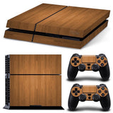 Wood Grain Playstation 4 Vinyl Decal PS4 Wrap Sticker Custom