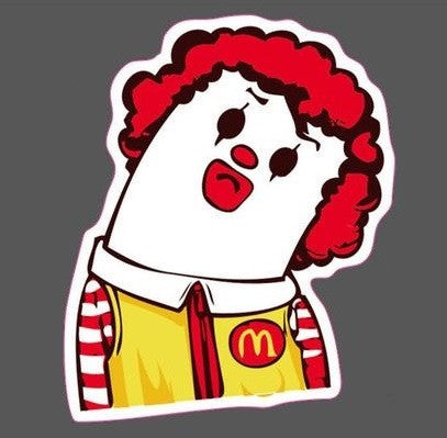 Ronald McDonald Neck-Break JDM Sticker