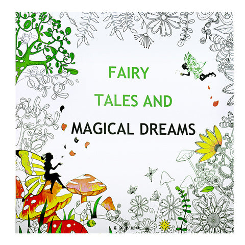 HelloDefiance, Fairy Tales and Magical Dreams Adult Coloring Book - 24 Pages, best, HelloDefiancecheap