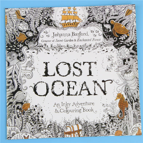 HelloDefiance, 24 Pages Lost Ocean Inky Adventure Adult Coloring Bookk, best, HelloDefiancecheap