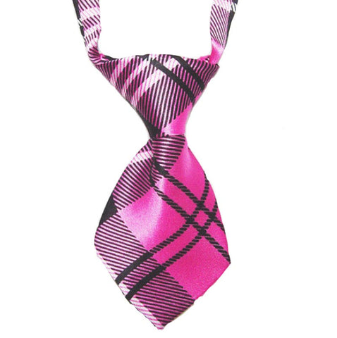 HelloDefiance, Pink Check-Stripes Dog Tie, best, HelloDefiancecheap